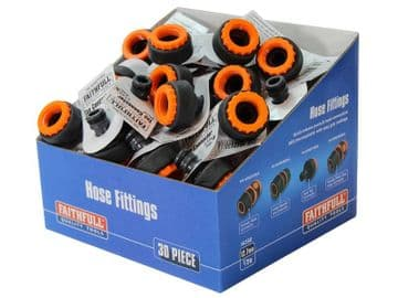 Plastic Tap Hose Connector 1/2 & 3/4in (Box 30)